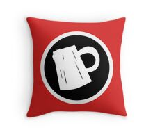 Cider Party Flat Logo Throw Pillow