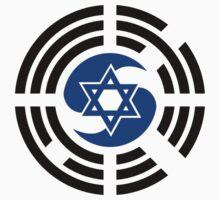 Korean Israeli Multinational Patriot Flag Series Kids Tee