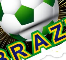 Soccer beautiful texture with brazil colors Sticker