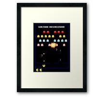 Pac N Vaders Framed Print