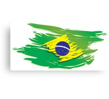 Brazil flag stylized Canvas Print