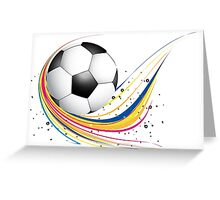 Abstract football green colorful wave Greeting Card
