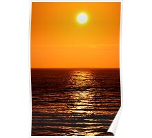 Low Sun on Sea Poster