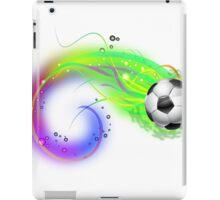 Soccer ball on colorful lightning way iPad Case/Skin
