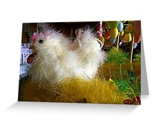 Fluffy Easter Decoration Greeting Card