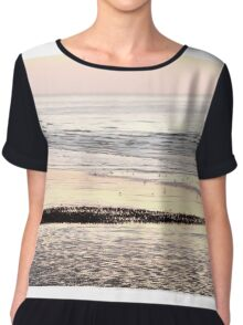 Starlings on Beach Chiffon Top