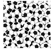 Huge collection of soccer balls Photographic Print