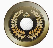 Golden crown golf club shield Kids Tee