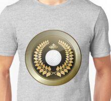 Golden crown golf club shield Unisex T-Shirt