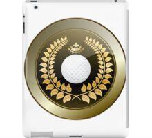 Golden crown golf club shield iPad Case/Skin