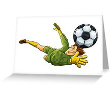 Goalkeeper jump to ball Greeting Card