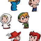 Teenies - Final Fantasy Chibis! by TipsyKipsy