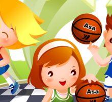 Basketball sport kids art Sticker