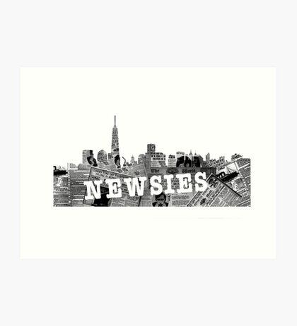 newsies Art Print