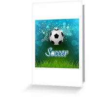 Soccer creative poster Greeting Card