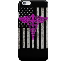USA Flags american nurse gift iPhone Case/Skin