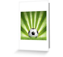 Green style soccer background Greeting Card