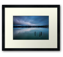 Post Blues Framed Print