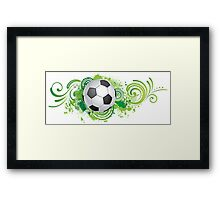Dynamic football design Framed Print