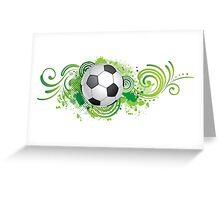 Dynamic football design Greeting Card