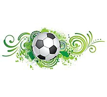 Dynamic football design Photographic Print