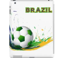 Beautiful brazil colors concept shiny soccer ball iPad Case/Skin