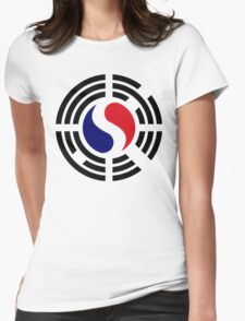 Korean French Multinational Patriot Flag Series Womens Fitted T-Shirt