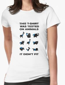 Funny Tested on Animals Womens Fitted T-Shirt