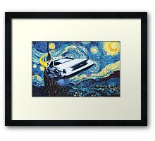 Back to the Starry Night Framed Print