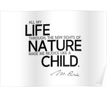 rejoice like a child - marie curie Poster