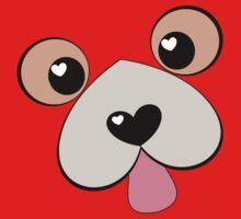 Doggie Kiss?  Doggie Hug? One Piece - Short Sleeve