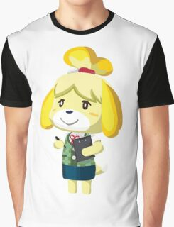 Isabelle Animal Crossing New Leaf Vector Print Graphic T-Shirt