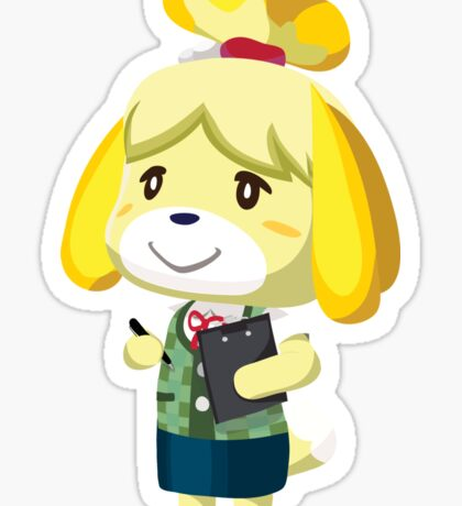 Isabelle Animal Crossing New Leaf Vector Print Sticker