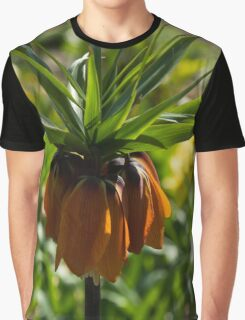 Vivid, Showy Orange Crown Imperial Flower Graphic T-Shirt