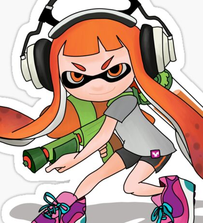Splatoon Squid kid Nintendo Print Sticker