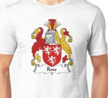 Ross Coat of Arms / Ross Family Crest Unisex T-Shirt