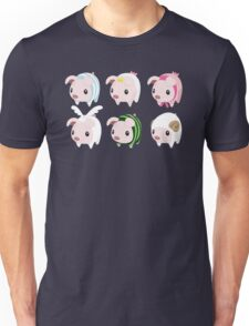 Poogie Piggie Monster Hunter Print all 6  Unisex T-Shirt