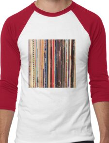 Vinyl Records Indie Rock  Men's Baseball ¾ T-Shirt