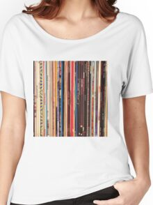 Vinyl Records Indie Rock  Women's Relaxed Fit T-Shirt