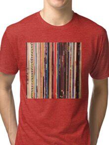 Vinyl Records Indie Rock  Tri-blend T-Shirt