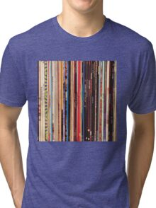 Vinyl Records Indie Rock  Tri-blend T-Shirt