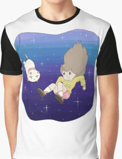 Bee and PuppyCat Falling Print Graphic T-Shirt