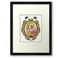 Princess Peach Melee Taunt Design Framed Print