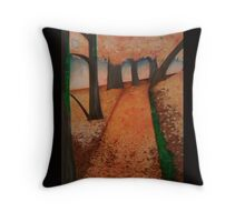 Fall Path On a Stormy Morning Throw Pillow