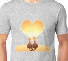 Cat love valentine Unisex T-Shirt