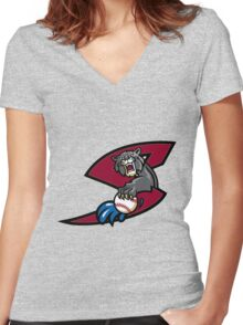 Sacramento river cats Women's Fitted V-Neck T-Shirt