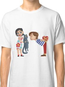 Valentine kiss cat Classic T-Shirt