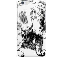 Cat washing itself clip art iPhone Case/Skin