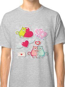 Cartoon cats card Classic T-Shirt