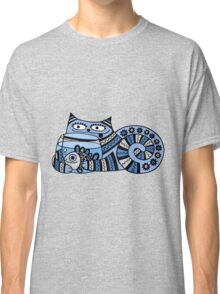 Funny floral pattern cats Classic T-Shirt